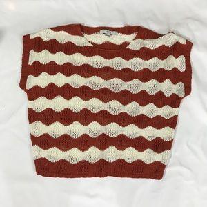 F21 boxy short sleeve crochet spring sweater